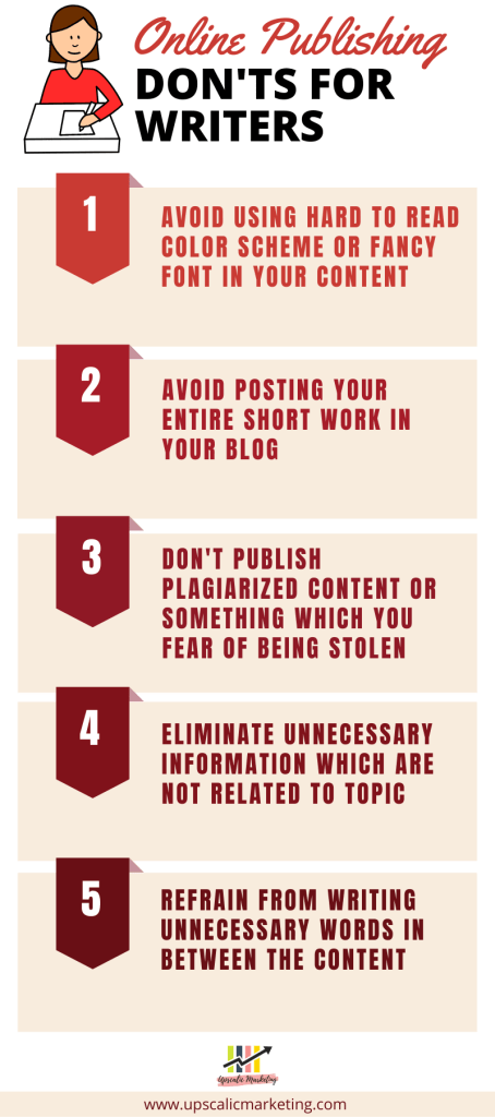 Things to avoid in content