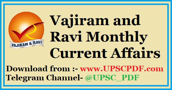 Vajiram and Ravi Current Affairs January 2019 PDF     UPSC PDF