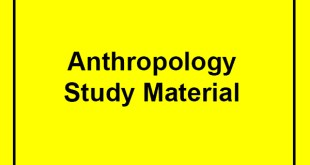 Anthropology Optional Notes