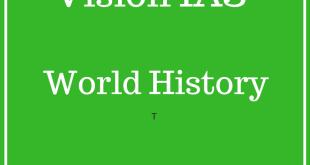 Vision IAS World History Printed Notes 2018 PDF Download