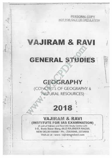 Vajiram and Ravi GeographyPrinted Notes PDF Download