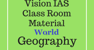 Vision IAS World Geography Printed Notes 2018 PDF Download