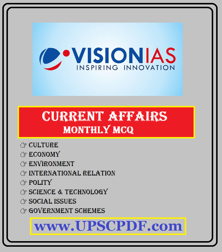 Vision IAS Hindi Current Affairs Revision MCQ May to