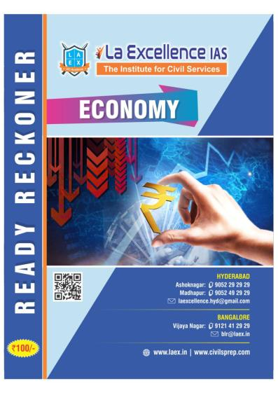 La Excellence Ready Reckoner Indian Economy PDF