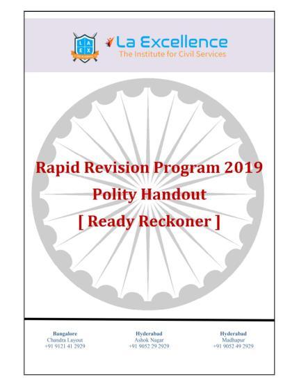 La Excellence Ready Reckoner Polity
