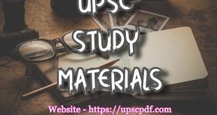 UPSC Study Material [upscpdf.com]