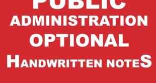 Pawan Kumar Public Administration Notes Complete PDF