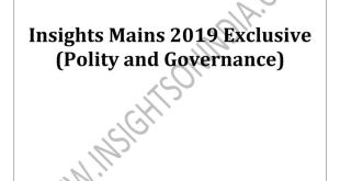 Insights IAS Mains Exclusive Polity 2019 PDF