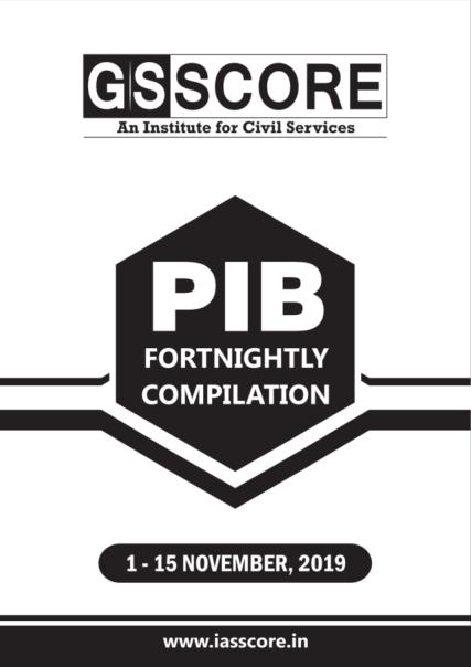 GS SCORE PIB November 2019 01-15 November PDF