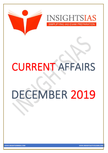 Insights IAS Current Affairs December 2019