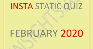 Insights IAS Static Quiz February 2020 PDF