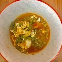 Sabores de Casa #1 - receita ovos com ervilhas