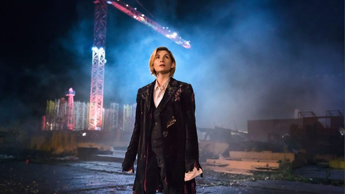 The 13th Doctor in the tattered and torn clothes of her predecessor, in the episode 'The Woman Who Fell To Earth'. Photo Credit: BBC