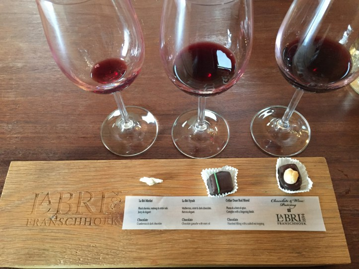 Wine tram experience south africa: La Bri Wine &Chocolate Tasting