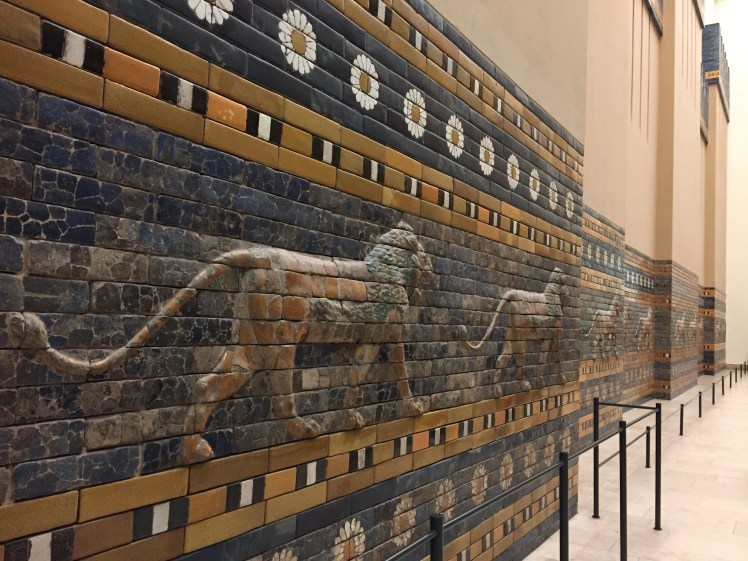 Two Panels with striding lions | 604-562 B.C. | Mesopotamia, Babylon - processional gate of Ishtar at the Pergamon Museum in Berlin, reconstruction