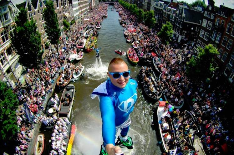 overtourism in amsterdam  Canal Parade