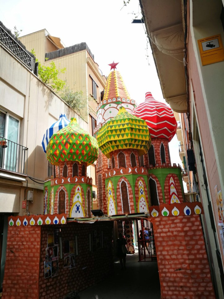 Fiesta de Gracia Barcelona - Russian themed street