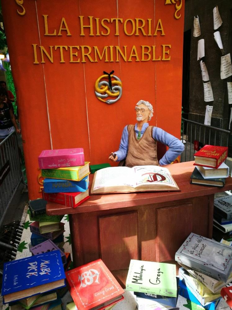 Fiesta de Gracia Barcelona: Never-ending Story themed street decorations