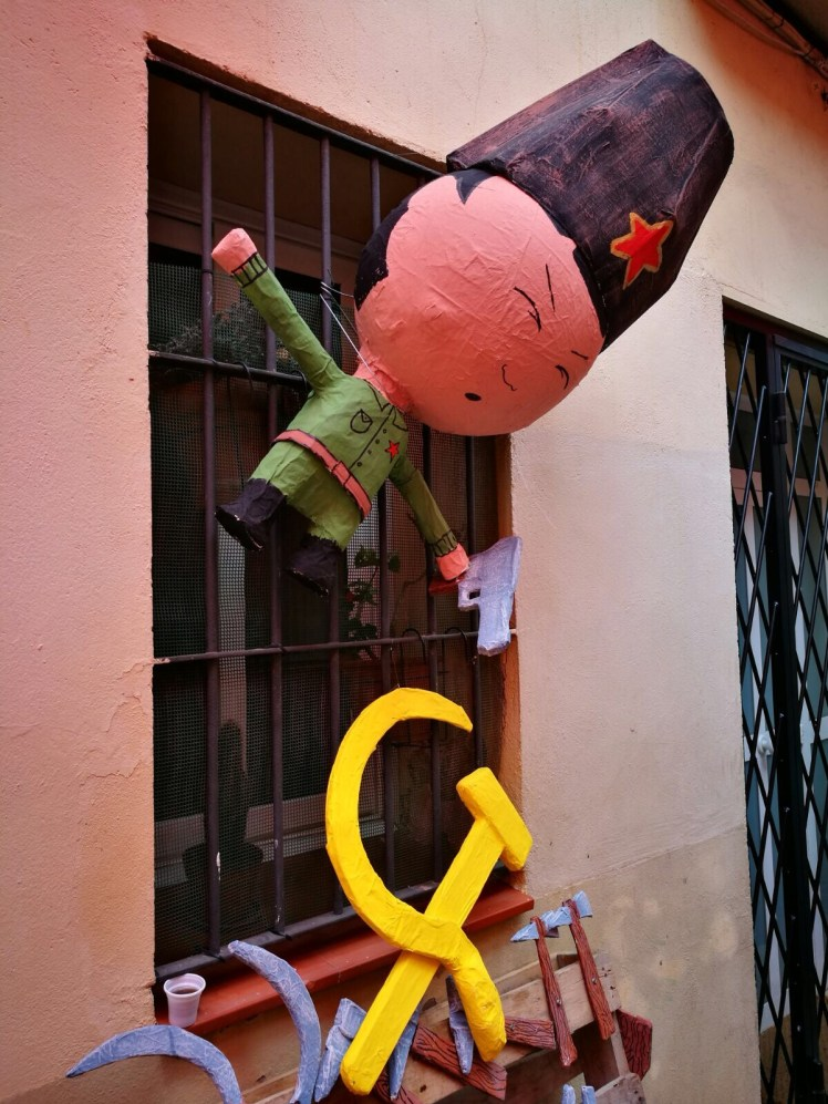 Fiesta de Gracia Barcelona - an ex USSR Communist theme street