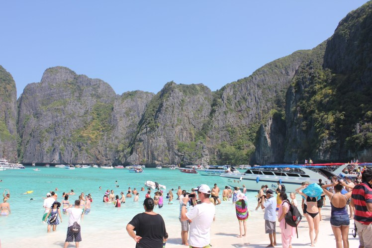 overtourism on Maya Bay beach, Phi Phi Islands