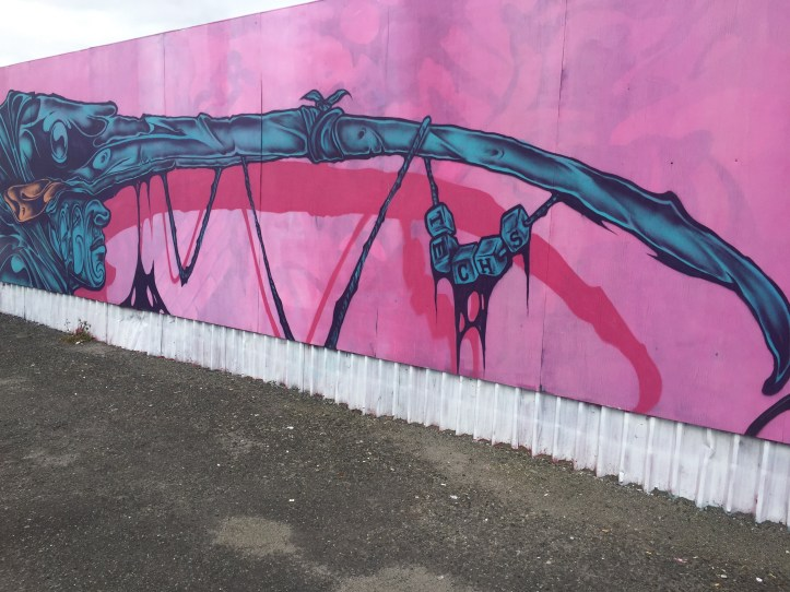 graffiato street art, Taupo, a different perspective