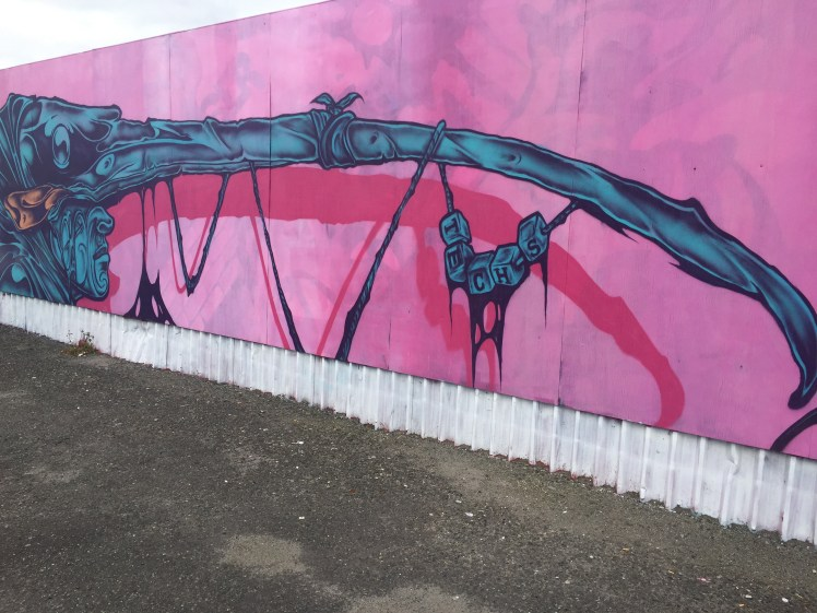 graffiato street art, Taupo, a different perspective