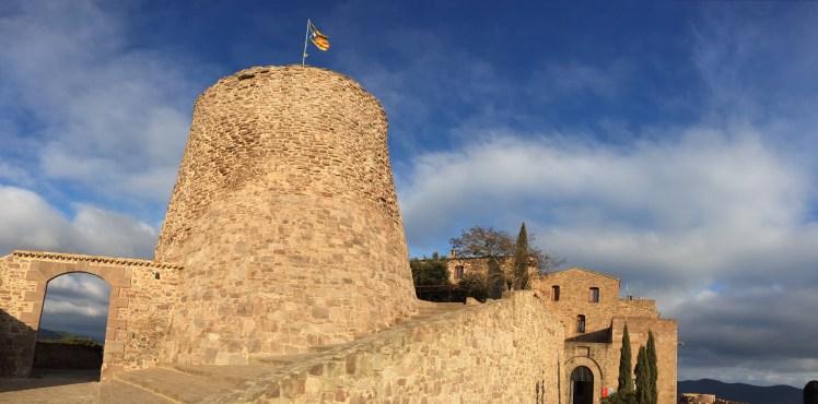 Torre de la Minyona panoramic view at Parador de Cardon