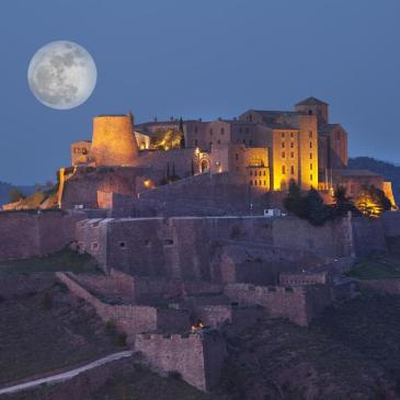 parador de cardona by night, in Catalunya Spain