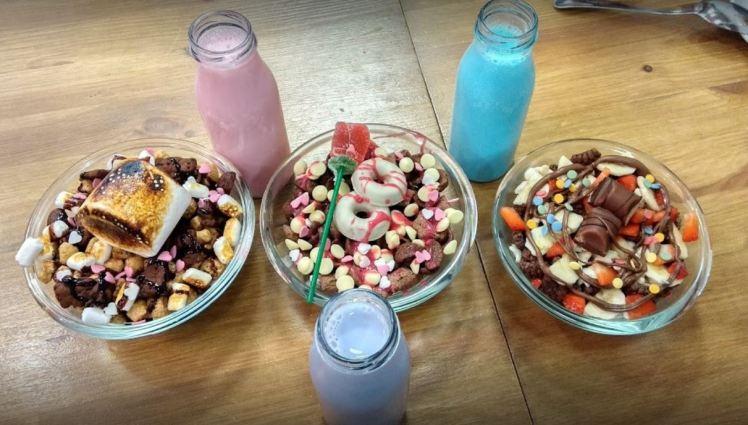 el flako cereal bar in el born quarter, Barcelona