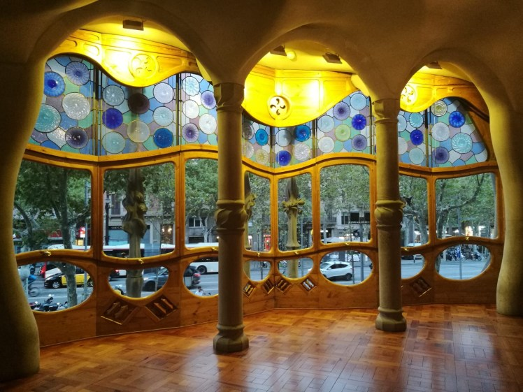 Casa Batllo Magic Nights visit  main window stained glass