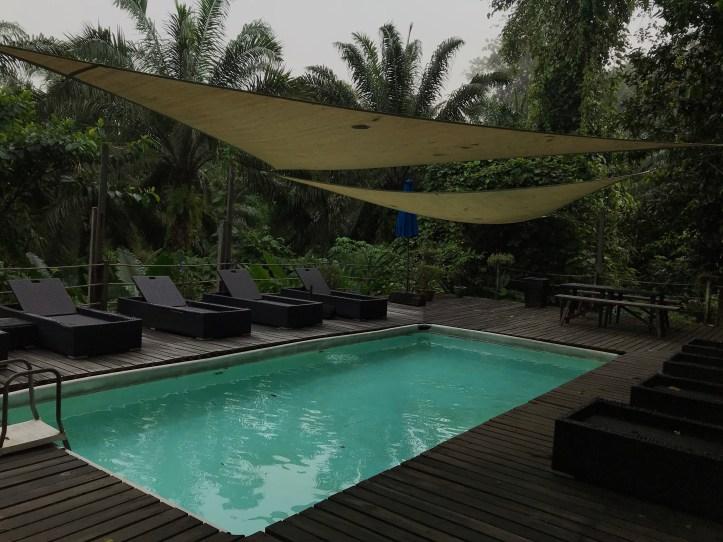 sukau rainforest lodge plunge pool