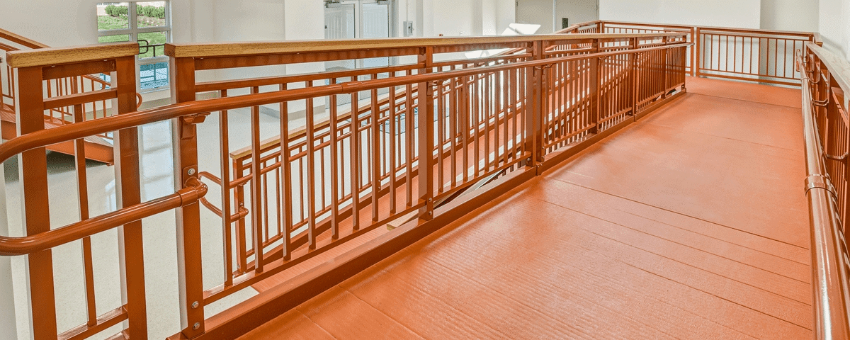 A Simple Guide To Ada Handrails Upside Innovations | Ada Compliant Wood Handrails | Accessible Ramp | Wooden Ramp | Commercial | Stair | Deck