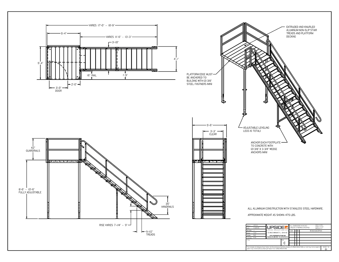 Second Story Modular Office Stairs