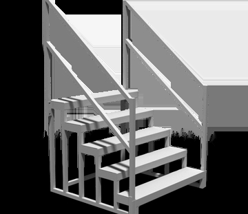 Semi Trailer Steps Safety Handrails Non Slip Walking Surfaces   Portable Steps With Handrail   3 Step   Free Standing   Camper   Stair   Safety Step Ladder 4 Step