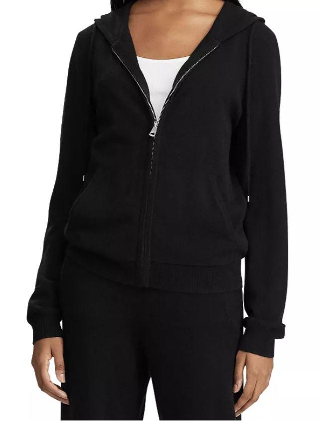 Ralph Lauren Washable Cashmere Hooded Sweatshirt