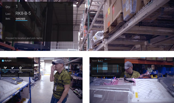 augmented reality material handling