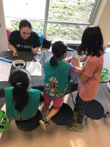Girl Scouts at Upskill STEM event