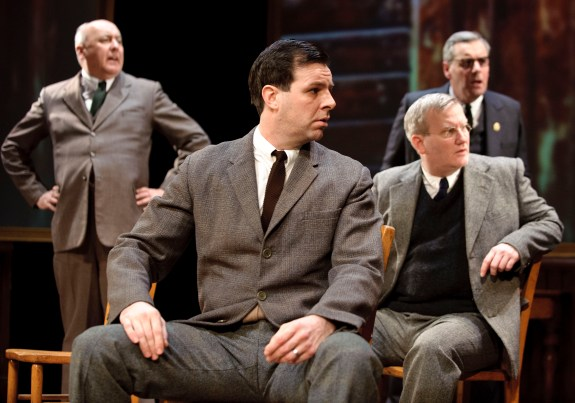 James Quinn, Micky Cochrane, Simeon Truby, Jim Barclay in The Pitmen Painters at Oldham Coliseum © Joel C Fildes