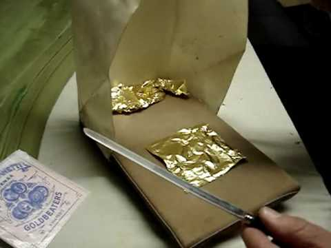 Gold Leaf Gilding for Works of Art on Canvas