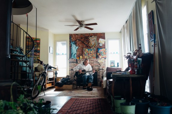 """Russell Stone says that he sacrificed a higher education for his music because he went off playing in bands after he graduated from Annapolis High School. He likes to say that he """"retired when he got out of high school"""" because he believed you could live an interesting life without having a regular job."""
