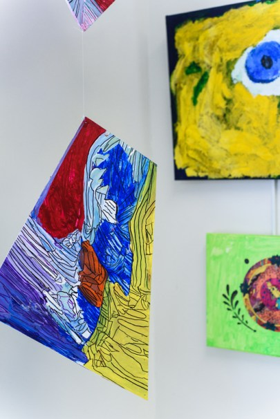 The Open Eye Gallery and art program at Arundel Lodge in Edgewater provides a creative space for adults impacted by mental health and substance use disorders. Many of their works are shown around the area at various galleries and museums and sold to the community to pay the artists and cover supply expenses. Photos by Alison Harbaugh. Sugar Farm Productions