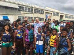 Annapolis Canoe & Kayak owner Dave Young donates his fleet of kayaks for a day every summer to 50 Box of Rain kids.