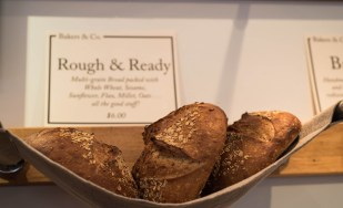 """Freshly baked """"Rough & Ready"""" bread at Bakers and Co. in Eastport. Photo by Alison Harbaugh"""