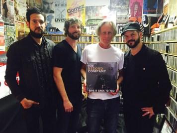 Bob Waugh with the Record Company