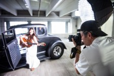 Photographer Greg Boresma on a recent styled photo shoot with models in Annapolis. Photos by Alison Harbaugh