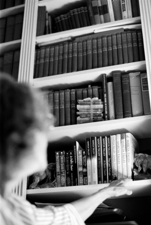 Talley's collection of works. Photo by Caitlyn Mae