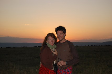 Mike and Nancy's first trip to Africa together in Kenya's Masai Mara, 2007.