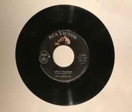 """""""Life's Too Short"""" record by the Lafayettes. Courtesy photo"""