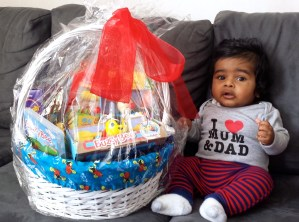 Isaiah with his prize