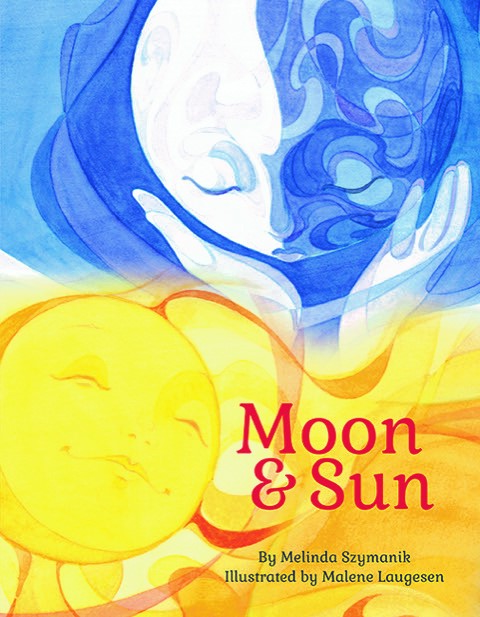Cover art of a moon hugging a sun.